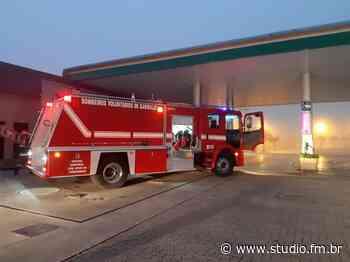 Posto de combustíveis pega fogo no acesso norte de Garibaldi | Rádio Studio 87.7 FM - Rádio Studio 87.7 FM