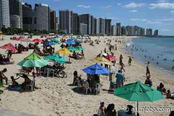 Apesar de restrições, banhistas lotam praias de Fortaleza - G1