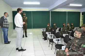 Tiro de Guerra de Pedreira recebe a visita do deputado estadual Tenente Coimbra - O Regional