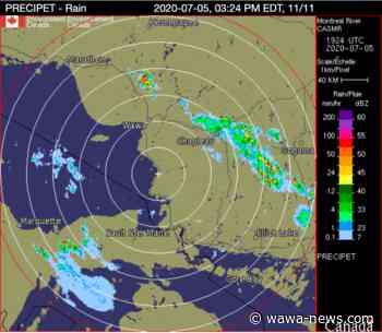 Heat Warning Continues with Thunderstorm Warning – Wawa-news.com - Wawa-news.com