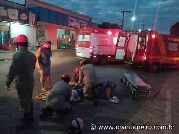Cachorro atravessa rua e provoca acidente com moto em Aquidauana - O Pantaneiro