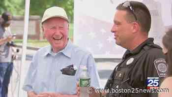 First responders surprise Korean War veteran for his 90th birthday in Kingston - Boston 25 News