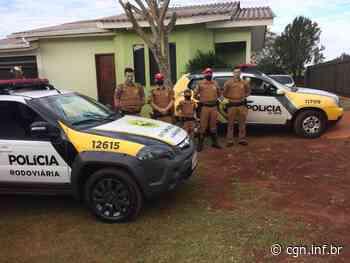 PRE de Santa Helena e PM de São Miguel do Iguaçu realizam sonho de menino admirador da Polícia Militar - CGN