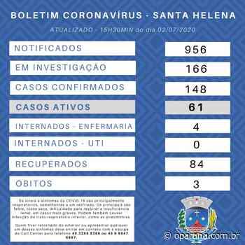 Santa Helena confirma mais oito casos do novo coronavírus; já são 148 no município - O Paraná