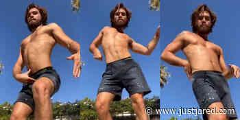 People Can't Stop Watching KJ Apa's Shirtless Dance Video on TikTok! - Just Jared