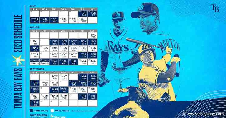 Rays release 60-game Schedule for 2020
