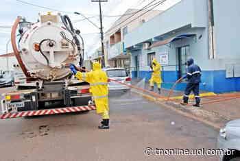 Sanepar faz desinfecção de locais públicos em Faxinal - TNOnline - TNOnline