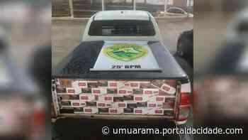 Motorista foge da polícia e abandona carro com cigarros paraguaios em Umuarama - ® Portal da Cidade | Umuarama