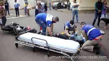 Jovem de 18 anos vítima de acidente no centro de Umuarama morre no hospital - ® Portal da Cidade | Umuarama