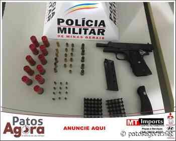 PM de Presidente Olegário apreende pistola e munições - Patos Agora