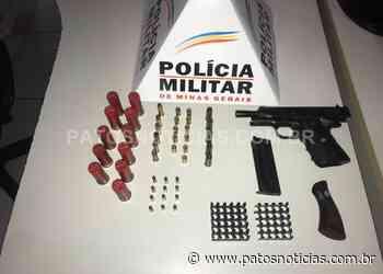 Homem é preso com pistola e munições em Presidente Olegário - Patos Notícias