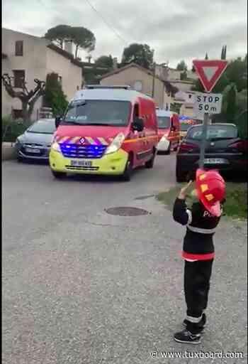 Les pompiers de Pegomas (Cannes) décident de faire plaisir à un enfant et c'est la plus belle chose de la journée - Tuxboard