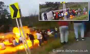 11 killed in Colombia fuel tanker explosion as 52 injured stealing