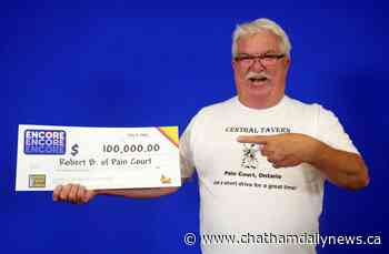 Pain Court lottery winner collects $100,000 playing Lotto Max