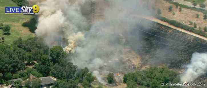 Brush Fire Erupts In Mission Hills, Transformer Explosion May Be To Blame