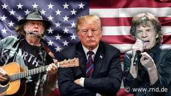 Rolling Stones, Neil Young und Co.: Diese Stars wollen nicht, dass Trump ihre Musik nutzt - RND