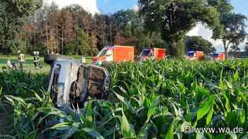 """Hamm-Rhynern: Unfall auf der Straße """"Im Zengerott"""" - Auto landet im Maisfeld, mehrere Verletzte - wa.de"""