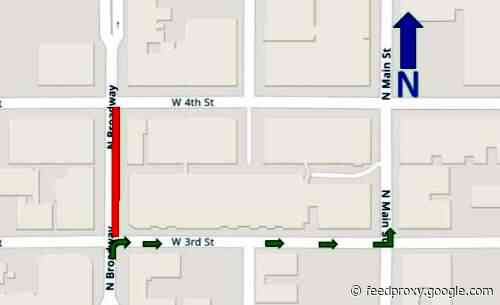 Part of northbound Broadway in DTSA to close for streetcar-related construction
