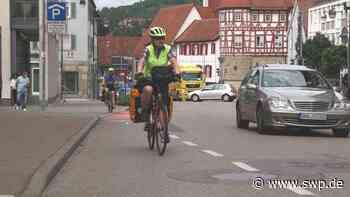 Radfahrer in Gaildorf: Wie steht die Stadt zu den neuen Fahrbahnstreifen? - SWP