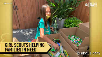 Girls Scouts pay it forward and provide care kits to families in need during COVID19