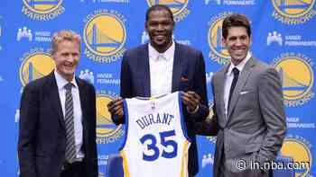 This Date in NBA History (July 7): Free agent Kevin Durant signs with the Golden State Warriors in 2016 - NBA IN