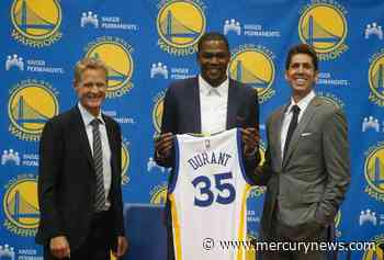 On this date, 2016: Kevin Durant thrilled to join Warriors - The Mercury News