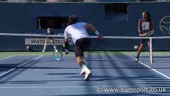 Great net point between Dustin Brown and Feliciano Lopez - Eurosport - ENGLAND (UK)