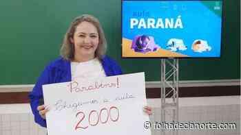 Aula Paraná atinge marca de duas mil aulas gravadas - Folha De Cianorte