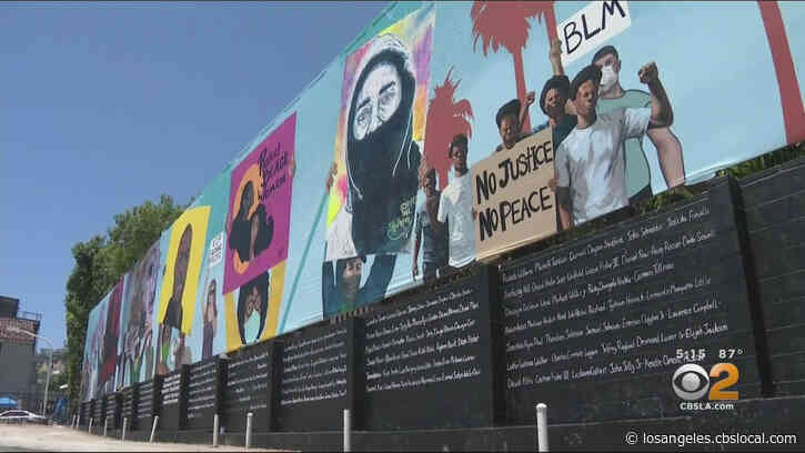 Laugh Factory Unveils Massive 148-Foot Black Lives Matter Mural In Hollywood