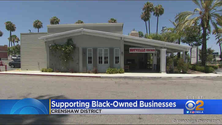SoCal Residents Support Black-Owned Businesses For Blackout Day 2020