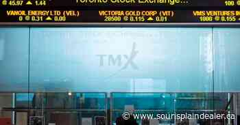 S&P/TSX composite down in early trading, loonie also trades lower - Souris Plain Dealer