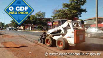 GDF Presente repara estacionamento comercial em Sobradinho II - Agência Brasília