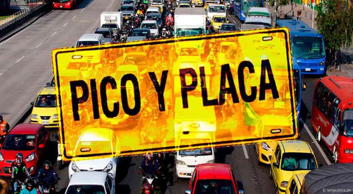 'Pico y placa' HOY: ¿qué números de taxis y colectivos que pueden circular en Colombia? - LaRepública.pe