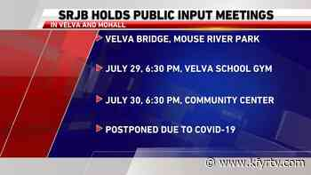 Souris River Joint Board reschedules community meetings in Velva, Mohall - KFYR