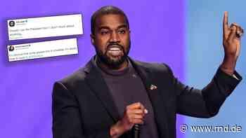 Kanye West will US-Präsident werden: Hollywoodstars reagieren mit Hohn und Spott - RND