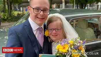 Coventry Down's syndrome campaigner gets married as restrictions ease - BBC News
