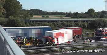 Schwerer Lkw-Unfall: A1 in Höhe Oyten derzeit voll gesperrt - WESER-KURIER