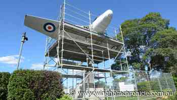 Tinonee Topics: Restoration of Wingham's vampire jet in Central Park - Wingham Chronicle