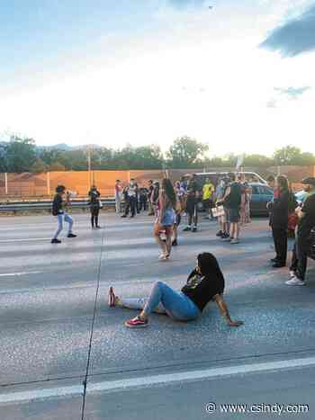 Protesters cited after blocking I-25 on-ramp
