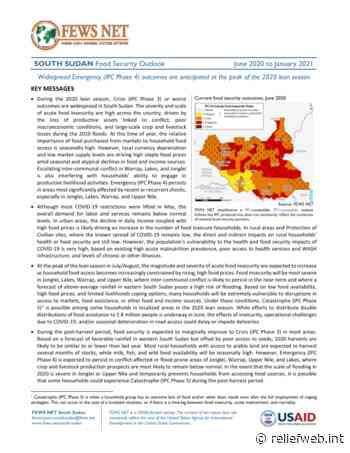 South Sudan: Food Security Outlook, June 2020 to January 2021 - South Sudan - ReliefWeb