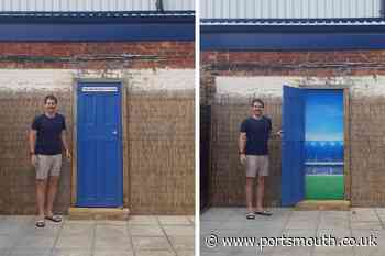 Football fan creates 'private entrance' to Portsmouth FC's Fratton Park's South Stand in his garden - Portsmouth News