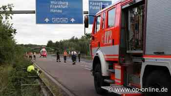 A45 bei Langenselbold: Schwerer Motorradunfall - Rettungshubschrauber im Einsatz - op-online.de