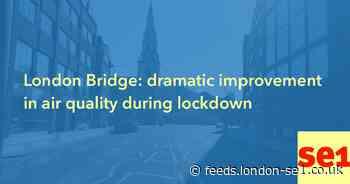 London Bridge: dramatic improvement in air quality during lockdown