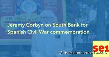 Jeremy Corbyn on South Bank for Spanish Civil War commemoration