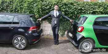 Mobilität in Eisleben: Rechtsanwalt Benjamin Quenzel fährt ein Elektroauto - Mitteldeutsche Zeitung