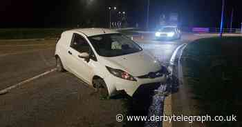 Driver arrested after crashing at notorious Derby roundabout - Derbyshire Live