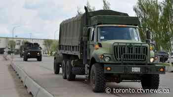 Large presence of military vehicles to be on Ontario roads tomorrow - CTV News
