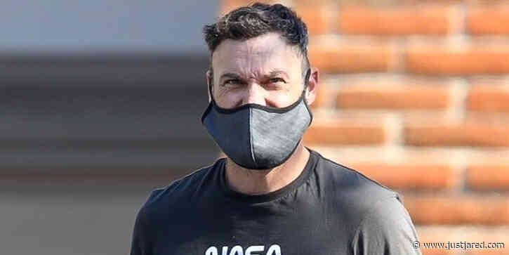 Brian Austin Green Wears a Mask While Running Errands in Malibu