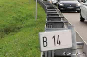 Unfall beim Fahrstreifenwechsel auf der B14 bei Schwaikheim - Blaulicht - Zeitungsverlag Waiblingen