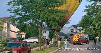 Hot-air balloon makes emergency landing in Huntley neighborhood